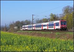 La Z 20523 arrive à Meaux le 08 avril 2007, train MERI Paris-Est - Meaux. (Charly Souviraa) Tags: colza sncf z20500 z20523 z2n meaux villenoy idf meri