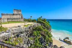 Mexico-131129-570 (Kelly Cheng) Tags: maya mayan mexico northamerica tulum yucatán architecture blue bluesky building color colorful colour colourful culture day daylight heritage landscape outdoor ruins sunny sunshine tourism travel traveldestinations vivid