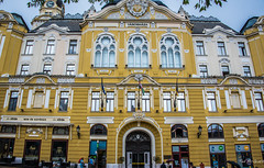 2018 - Hungary - Pécs - Town Hall (Ted's photos - For Me & You) Tags: 2018 cropped hungary nikon nikond750 nikonfx pécs tedmcgrath tedsphotos vignetting pécsivárosháza townhallofpécs pécshungary pécstownhall townhallpécs building arches windows doors