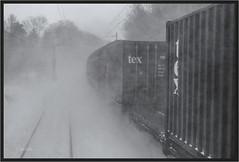 """swooooosh ("""" Wiener Schule """") Tags: eisenbahn railway railroad container intermodal textainer freight güterwagen train winter snow güterzug"""
