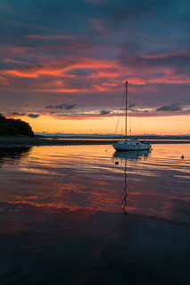 Colourful Sunset over Cramond, Edinburgh