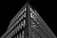 ^ ^ silver ^ ^ (christikren) Tags: austria architecture abstract architektur blackwhite bw building black silver christikren city facade geometry lines monochrome offices panasonic photography perspective reflection sunvisors structure