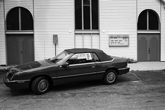 Used (pantagrapher) Tags: suttons bay michigan bw car used for sale church ricoh grii