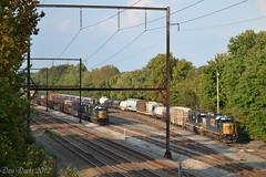 Woodbourne Yard 2012 (Dan A. Davis) Tags: csx freighttrain locomotive train gp382s gp402 roadslug sd402 hlcx railroad langhorne pa pennsylvania woodbourneyard