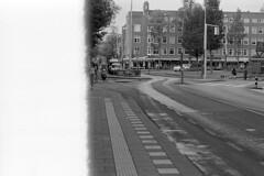 First frame (Arne Kuilman) Tags: kosmofoto kosmofotomono iso100 contax zeiss 50mm 50mmf17 slr film homedeveloped pyrocathd 11minutes developed developer amsterdam netherlands nederland firstframe hoofddorpplein