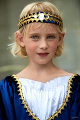 Princess (zebrazoma) Tags: portrait enfant médiéval middle age princesse princess costume ambiant light couronne crown dress nikon d810 70200 remparts dinan