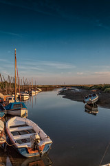 Blakeney Quay West View. (andybam1955) Tags: earlymorning lwtide quay landscape blakeneyharbour blakeney coastal blakeneyquay sky northnorfolk boats rural norfolk sea