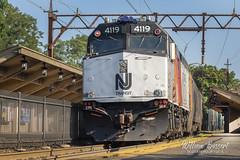 Bloomfield Station (bozartproductions) Tags: f40 4119 new jersey transit bloomfield railroad station engine diesel eastend train njt