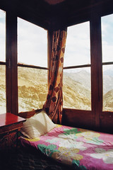 . (Careless Edition) Tags: photography film india ladakh nature landscape room bed view trek hike