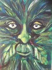 Green Man IV (Ronald Hackston) Tags: painting drawing art trees vegetation green man pagan god greenman thegreenman folklore