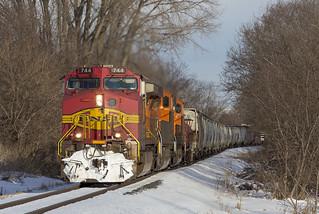 BNSF 744 - CP 471 - Byron Hill