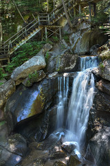 Lost River Gorge & Boulder Caves (Color Blind 56) Tags: lostrivergorge water wilderness rock river overlook nikon foliage falls d7100 cb1956 viewpoint mountains whitemountains stairway newhampshire
