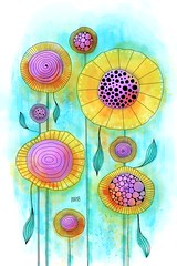 2018_82_Sunflowers (opassande) Tags: sunflowers flowers drawing art doodle abstractart