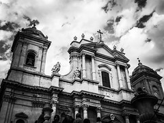 Noto (MarcoFoti) Tags: flickrtravelaward architecture beautiful beauty italy baroque blackwhite cathedral sicily noto