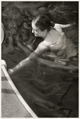 Pool #12 IR 2018; Swimmer (hamsiksa) Tags: person people woman women swimmers floaters water pools swimmingpools blackwhite infrared digitalinfrared infraredphotography reflection refraction waters swimming liquids portraits candidportraits informalportraits