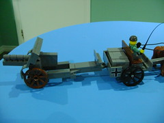 It can be hook to buggy. Note that the back part as to be move on top. (TekBrick) Tags: custom lego ww1 german canon skoda m14 horse buggy moc brick parts dark gray war