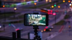 Window (RealKuabe) Tags: timelapse time warsaw poland night blur iphone city bokeh phone