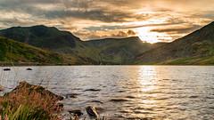 Llyn Ogwen (Mark Palombella Hart) Tags: mountain nature landscape travel beautiful summer clouds trees scenic tourism sunset wales lake snowdonia grass