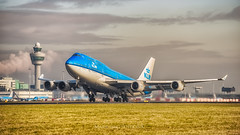 Up and away (mark.wagtendonk) Tags: klm boeing 747 747400 744 b747 b744 aviation hd hdr schiphol ams eham amsterdam airport airplane aircraft airlines blue