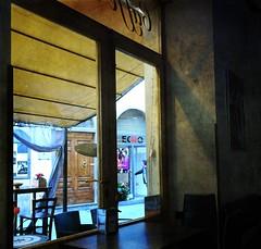 Sansepolcro café 24feb2018  Sony HK90 (maong2018) Tags: sansepolcro cefé window view light dark shadows
