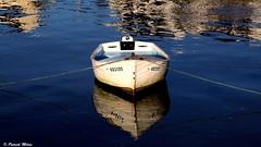 Reflection (patrick_milan) Tags: reflection boat ship mark blue bleu bateau