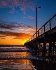 Friday Semaphore Sunset 🌅 (BTAdelaide) Tags: landscapephotography beautiful australia southaustralia adelaide jetty seascape photography sunset landscape