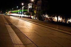 DSC_0567 (D Padio) Tags: nikon spring night urban nantes city downtown tramway color composition focus mouvement light street