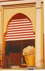Fez Wool Morocco (Slip Mahoney) Tags: morocco marroc fez agadir casablanca northafrica 35mmslide berber wool rabat calendar souk esouria marakesh marrakesh doorway