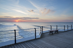 Sunset at Saltburn-by-the-sea (Keartona) Tags: saltburn saltburnbythesea pier sea waves sky sunset blue evening northyorkshire beautiful view redcar may bench railings