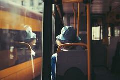 Afternoon tea (ewitsoe) Tags: 0mm canoneos6dii street warszawa erikwitsoe streetphotography summer urban warsaw tram lady window windowseat bluehat grain film analoglook tone sun warm sunny city mood vibes look woman
