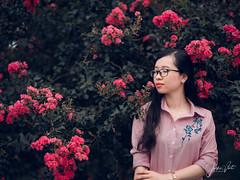 Climbing rose (SuBinZ) Tags: portrait girl flickr flickrcom áo dài dress vietnamese gái young lady beauty cute fujifilm gfx 50s 110mm flower tường vy climbing rose vietnam hoa