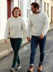 Love in wedding knitwear (Mytwist) Tags: mens traditional aran sweater natural donegal irish ireland ie honeycomb fisherman wool knitwear outfit love cozy unisex gift design fetish designed classic craft vintage grobstrick sweatergirl vouge laine pullover retro timeless yarn garnment