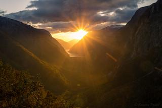 sunset eidfjord