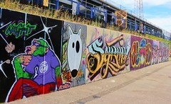 Fratton Park Graffiti (Roy Richard Llowarch) Tags: graffiti graffitiart urban urbanart art artwork artistic artists streets streetart streetphotography portsmouth portsmouthengland portsmouthhampshire portsmouthfc portsmouthfootballclub portseaisland fratton frattonpark innercity outdoor pompey cities city footballstadiums footballgrounds soccergrounds soccerstadiums royllowarch royrichardllowarch photography photographs photographer paint painted spraypaint color colour colorful colourful hampshire england english wall walls road roads sunshine sunny august 2018 football soccer