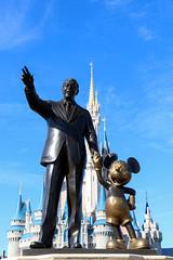 """Partners"" (Rick & Bart) Tags: waltdisneyworldresort orlando florida disney rickvink rickbart canon eos70d cinderellacastle scultpure statue partners mickeymouse waltdisney"