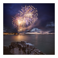 The Big Bang! (picturedevon.co.uk) Tags: rnli fireworks display breakwater brixham torbay devon sea sky clouds le longexposure color blue red orange night light coast water sunset dusk twilight people event summer canon wwwpicturedevoncouk
