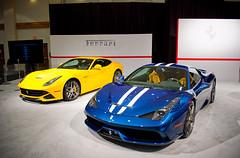 Ferrari 458 Speciale & F12 Berlinetta (amm6587) Tags: miami miamiautoshow miamiinternationalautoshow autoshow car auto show nikon florida miamibeach ferrari ferrari458 458 speciale 458speciale f12 f12berlinetta berlinetta v12 v8