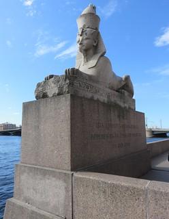 Egyptian Sphynx on the Neva River (Saint Petersburg, Russia)
