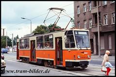 5109-218-109-1991-09-07-1-Bahnhofstraße (steffenhege) Tags: berlin bvg strasenbahn streetcar tram tramway ckd t6a2 218109