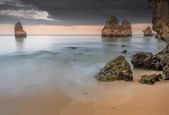 Stillness (Sizun Eye) Tags: still stillness evening camilobeach algarve lagos portugal beach sand rocks cliffs le longexposure poselongue sizuneye nikond750 nikon1424mmf28 nikkor 1424mm