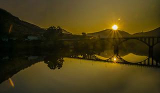 Landscape by sunrise.
