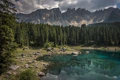 Lago di Carezza (Stockografie) Tags: alps car dolomites rx100iv rx100m4 sony vehicle