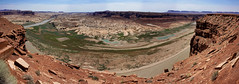 Hite Overlook (rovingmagpie) Tags: utah hite hiteoverlook coloradoriver hitecrossingbridge lakepowell panorama dryingout bridge pano dry summer2018