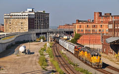 "Eastbound Transfer in Kansas City, MO (""Righteous"" Grant G.) Tags: up union pacific railroad railway locomotive emd ge power engine freight kansas city missouri transfer yard job"
