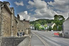 Street in Hathersage (Bri_J) Tags: stanageedge peakdistrict nationalpark hathersage derbyshire uk countryside hdr nikon d7200 street buildings clouds sky road