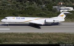 Tus Air Fokker 100 5B-DDD @ Skiathos Airport (LGSK/JSI) (Joshua_Risker) Tags: skiathos airport lgsk jsi tus air airways fokker 100 5bddd