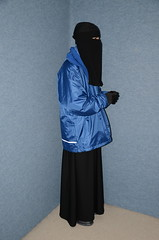 Three Jackets (Warm Clothes Fetish) Tags: slave sweat maid torture hijab niqab boots coat fur hot apron fleece girl warm clothed washerwoman suit waitress hat