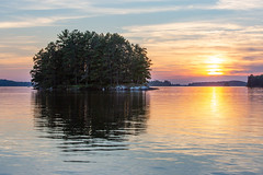 Sunset on the Lake (dshoning) Tags: island minnesota