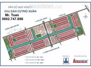 Hot! cần tiền bán gấp lô đất nhà phố KDC Phú Xuân – Vạn Phát Hưng 126m2, giá chỉ 19tr/m2