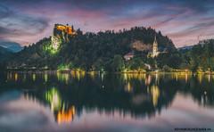 Magical Lake Bled at Night